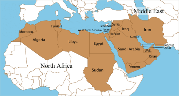 Middle East and North Africa Regions